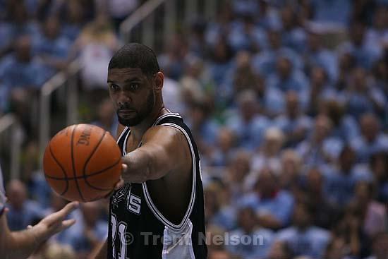 San Antonio Spurs forward Tim Duncan  (21) Salt Lake City - Utah Jazz vs. San Antonio Spurs, Western Conference Finals game three at EnergySolutions Arena..5.26.2007
