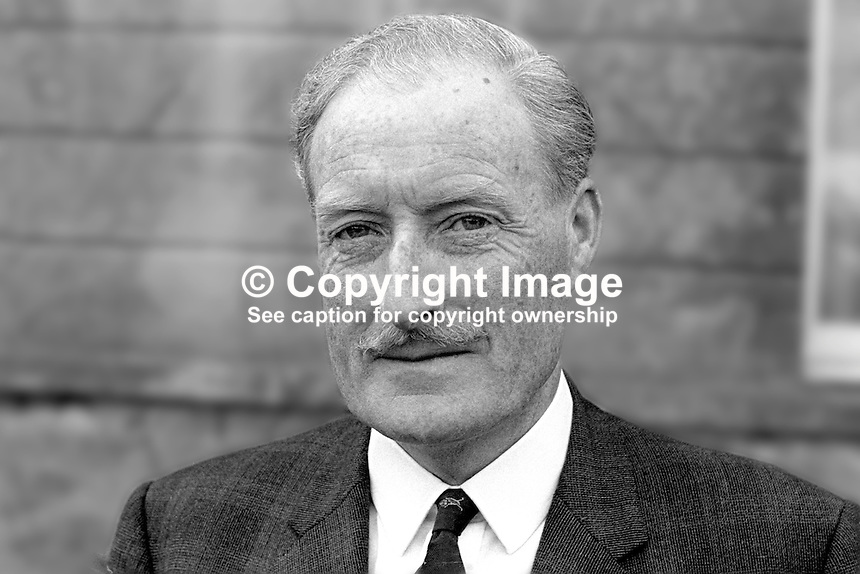 Brian Morton, chairman, Londonderry Development Commission, N Ireland.   Between 1969 and 1973 the commission took over the local council's functions. 196901000023<br /> <br /> Copyright Image from Victor Patterson, 54 Dorchester Park, Belfast, UK, BT9 6RJ<br /> <br /> Tel: +44 28 9066 1296<br /> Mob: +44 7802 353836<br /> Voicemail +44 20 8816 7153<br /> Skype: victorpattersonbelfast<br /> Email: victor@victorpatterson.com<br /> Email: victorpatterson@me.com (back-up)<br /> <br /> IMPORTANT: If you wish to use this image or any other of my images please go to www.victorpatterson.com and click on the Terms &amp; Conditions. Then contact me by email or phone with the reference number(s) of the image(s) concerned.