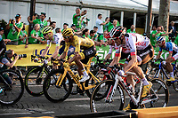 Yellow Jersey Egan Bernal (COL/Ineos) riding the Champs-Elysées cobbles. <br /> <br /> Stage 21: Rambouillet to Paris (128km)<br /> 106th Tour de France 2019 (2.UWT)<br /> <br /> ©kramon