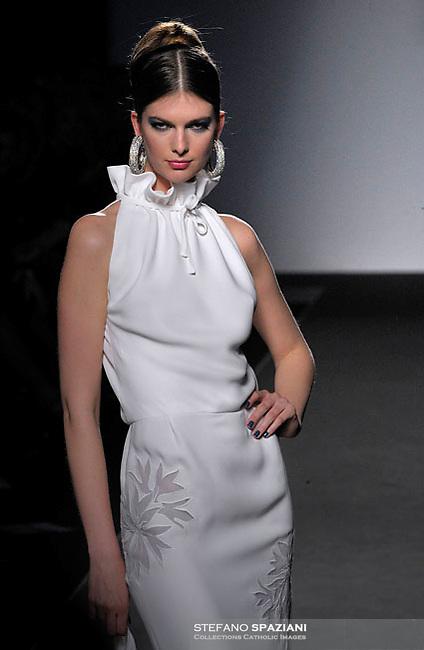 Italian fashion designer Renato Balestra featured at Rome Fashion Week,Fashion show. Presentation of S/S 2013.Italian Haute Couture collection, January 27, 2013