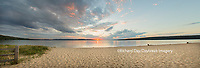 64795-01517 Sunset on South Bay, Lake Superior, Munising, Upper Peninsula, MI