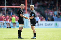 George Kruis and Vincent Koch of Saracens. Gallagher Premiership Semi Final, between Saracens and Gloucester Rugby on May 25, 2019 at Allianz Park in London, England. Photo by: Patrick Khachfe / JMP