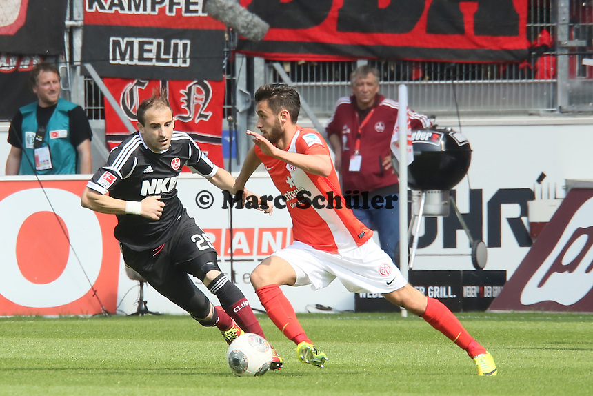 Yunus Malli (mainz) gegen Javier Pinola (Nürnberg) - 1. FSV Mainz 05 vs. 1. FC Nürnberg, Coface Arena,
