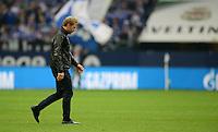 FUSSBALL   1. BUNDESLIGA   SAISON 2012/2013    31. SPIELTAG FC Schalke 04 - Hamburger SV          28.04.2013 Trainer Thorsten Fink (Hamburger SV) ist nach dem Abpfiff enttaeuscht