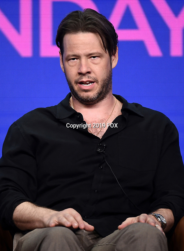 2019 FOX SUMMER TCA: BLESS THE HARTS cast member Ike Barinholtz during the ANIMATION DOMINATION: BLESS THE HARTS/DUNCANVILLE panel at the 2019 FOX SUMMER TCA at the Beverly Hilton Hotel, Wednesday, Aug. 7 in Beverly Hills, CA. CR: Frank Micelotta/FOX/PictureGroup