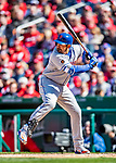 5 April 2018: New York Mets first baseman Adrian Gonzalez at bat against the Washington Nationals during the Nationals' Home Opener at Nationals Park in Washington, DC. The Mets defeated the Nationals 8-2 in the first game of their 3-game series. Mandatory Credit: Ed Wolfstein Photo *** RAW (NEF) Image File Available ***