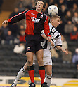 23/01/2005  Copyright Pic : James Stewart.File Name : jspa04_st mirren v airdrie. ALAN GOW  AND ST MIRREN'S MCGOWAN CHALLENGE FOR THE BALL....Payments to :.James Stewart Photo Agency 19 Carronlea Drive, Falkirk. FK2 8DN      Vat Reg No. 607 6932 25.Office     : +44 (0)1324 570906     .Mobile   : +44 (0)7721 416997.Fax         : +44 (0)1324 570906.E-mail  :  jim@jspa.co.uk.If you require further information then contact Jim Stewart on any of the numbers above.........A