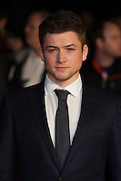 Taron Egerton arriving for a screening of 'Testament of Youth' during the 58th BFI London Film Festival at Odeon Leicester Square, London.  14/10/2014 Picture by: Dave Norton / Featureflash