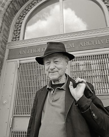 Jonas Mekas, 2006.  Filmmaker, writer, poet, curator.  Founder, Anthology Film Archives.