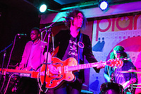Immigrant Union performs at Pianos in New York City during the CBGB Music and Film Festival on October 10, 2014.