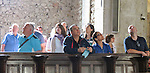 "VMI Vincentian Heritage Tour: Members of the Vincentian Mission Institute cohort tour the Church of St Mary Magdalen in the hilltop village of Pérouges on Tuesday, June 28, 2016, site of the classic film ""Monsieur Vincent"". (DePaul University/Jamie Moncrief)"