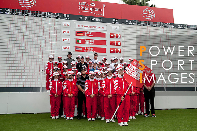 Participants during the Press conference Mission Hills World Celebrity Pro-Am at the Dongguang Mission Hills Golf Club on October 30, 2012, in China's province of Canton. . Photo by Xaume Olleros / The Power of Sport Images for Mission Hills