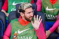 FC Barcelona's Leo Messi during the La Liga match between Futbol Club Barcelona and Deportivo de la Coruna at Camp Nou Stadium Spain. October 15, 2016. (ALTERPHOTOS/Rodrigo Jimenez) NORTEPHOTO.COM