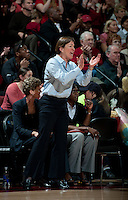 STANFORD, CA - March 21, 2011: Stanford Cardinal's Tara VanDerveer during Stanford's 75-51 win over St. John's during the second round of the NCAA tournament at Maples Pavilion in Stanford, California.