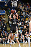SALEM, VA - MARCH 17: Nebraska Wesleyan Prairie Wolves forward Ryan Garver (23) shoots for 2 of his 11 points during the Division III Men's Basketball Championship held at the Salem Civic Center on March 17, 2018 in Salem, Virginia. Nebraska Wesleyen defeated Wisconsin-Oshkosh 78-72 for the national title. (Photo by Andres Alonso/NCAA Photos/NCAA Photos via Getty Images)