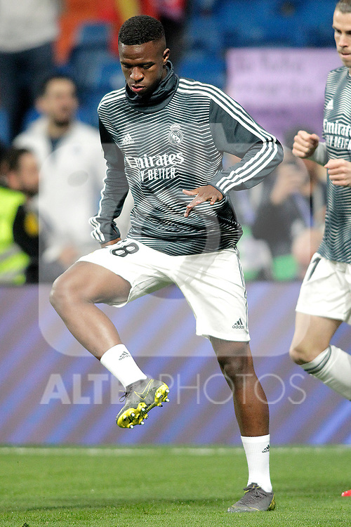 Real Madrid CF's Vinicius Junior during La Liga match. February 27,2019. (ALTERPHOTOS/Alconada)