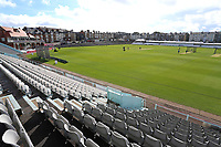 General view of the ground ahead of Yorkshire CCC vs Essex CCC, Specsavers County Championship Division 1 Cricket at Scarborough CC, North Marine Road on 7th August 2017