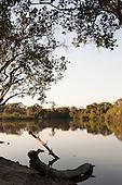 Xingu Indigenous Park, Mato Grosso, Brazil. Aldeia Matipu; the port on the Kuluene River.