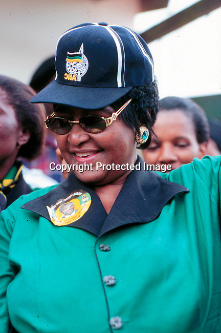 PEMANWI55001.Personality Winnie Madikizela Mandela. Celebrating Human Rights Day in Shoshashobane, South Africa. .©Per-Anders Pettersson/iAfrika Photos