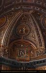 Gilded Stucco ceiling above Cathedra Petri Luigi Vanvitelli 1740s Apse St Peter's Basilica Rome