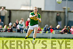 Peter Crowley Kerry in action against  Cork in the National Football league in Austin Stack Park, Tralee on Sunday.