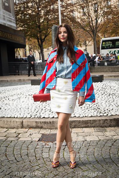Anya Taylor-Joy attend Miu Miu Show Front Row - Paris Fashion Week  2016.<br /> October 7, 2015 Paris, France<br /> Picture: Kristina Afanasyeva / Featureflash