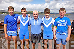 The Killorglin RC U16 Mixed crew who took gold at the Waterville Regatta on Sunday were l-r; John F.O'Grady, Cathal O'Donovan, Derry Doyle(Cox), Kieran O'Sullivan & Sean Houlihan.