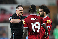 during the Premier League match between Swansea City and Liverpool at the Liberty Stadium, Swansea, Wales on 22 January 2018. Photo by Mark Hawkins / PRiME Media Images.