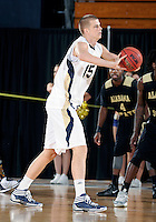 Florida International University center Gilles Dierickx (15) plays against Alabama State University, which won the game 60-57 on December 3, 2011 at Miami, Florida. .