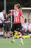 20160824 - GENT , BELGIUM : PSV Eindhoven's  Myrte Moorrees pictured during a friendly game between KAA Gent Ladies and PSV Eindhoven during the preparations for the 2016-2017 season , Wednesday 24 August 2016 ,  PHOTO Dirk Vuylsteke   Sportpix.Be
