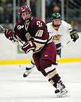 "19 January 2007: Boston College forward Brock Bradford from Burnaby, BC, in action during a Hockey East matchup against the University of Vermont at Gutterson Fieldhouse in Burlington, Vermont. The UVM Catamounts defeated the BC Eagles 3-2 before a record setting 50th consecutive sellout at ""the Gut""...Mandatory Photo Credit: Ed Wolfstein Photo."