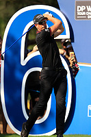 Henrik Stenson (SWE) on the 16th tee during the final round of the DP World Tour Championship, Jumeirah Golf Estates, Dubai, United Arab Emirates. 18/11/2018<br /> Picture: Golffile | Fran Caffrey<br /> <br /> <br /> All photo usage must carry mandatory copyright credit (© Golffile | Fran Caffrey)