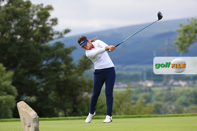 Alison Lee during the Sunday Singles at the 2016 Curtis Cup, played at Dun Laoghaire GC, Enniskerry, Co Wicklow, Ireland. 12/06/2016. Picture: David Lloyd | Golffile. <br /> <br /> All photo usage must display a mandatory copyright credit to &copy; Golffile | David Lloyd.