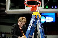 SPOKANE, WA - MARCH 28, 2011: Eileen Roche, Stanford Women's Basketball vs Gonzaga, NCAA West Regional Finals at the Spokane Arena on March 28, 2011.