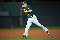Siena Saints shortstop Tyler Martis (1) during a game against the Stetson Hatters on February 23, 2016 at Melching Field at Conrad Park in DeLand, Florida.  Stetson defeated Siena 5-3.  (Mike Janes/Four Seam Images)