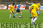 Action from the Classic FC v Dingle Bay Rovers in the Munster Junior Cup game in Mouthhawk Park, Tralee on Sunday last.