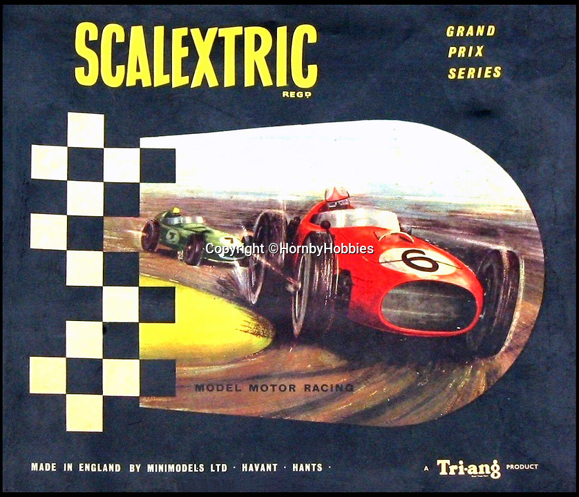 BNPS.co.uk (01202 558833)Pic: HornbyHobbies/BNPS<br /> <br /> A 1960 Scalextric set.<br /> <br /> These fascinating photos tell the story of 60 years of Scalextric which grew from humble beginnings into a British institution. <br /> <br /> When enterprising Freddie Francis launched the car racing toy in 1957 at his factory in Havant, Hants, he could never have known they would still be a household name 60 years later.<br /> <br /> Today, Scalextric are produced by English toy maker Hornby Hobbies and demand for the much-loved slot cars is still as strong as ever.