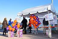 Pre-race activities at Pier 84, Hudson River Park.