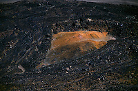 Stark details of lava flow in the crater of HALEAKALA NATIONAL PARK on Maui in Hawaii