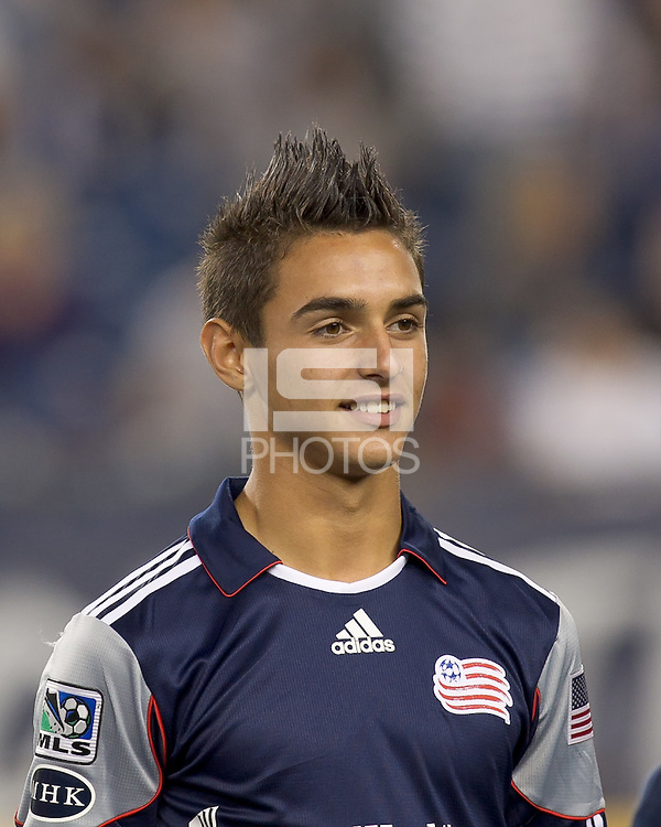 New England Revolution forward Diego Fagundez (14). In a Major League Soccer (MLS) match, the San Jose Earthquakes defeated the New England Revolution, 2-1, at Gillette Stadium on October 8, 2011.