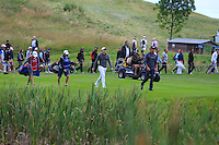 Rory McIlroy (NIR) and Raffa Cabrera-Bello (ESP) walking down the 13th fairway during Round 2 of the 100th Open de France, played at Le Golf National, Guyancourt, Paris, France. 01/07/2016. <br /> Picture: Thos Caffrey | Golffile<br /> <br /> All photos usage must carry mandatory copyright credit   (&copy; Golffile | Thos Caffrey)