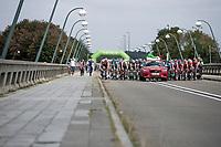 stage start on top of the &quot;lac de l'eau d'heure&quot;<br /> <br /> Binckbank Tour 2018 (UCI World Tour)<br /> Stage 7: Lac de l'eau d'heure (BE) - Geraardsbergen (BE) 212.7km