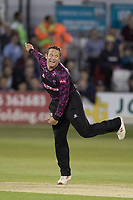Roelof Van Der Merwe of Somerset CCC in action during Essex Eagles vs Somerset, Vitality Blast T20 Cricket at The Cloudfm County Ground on 7th August 2019