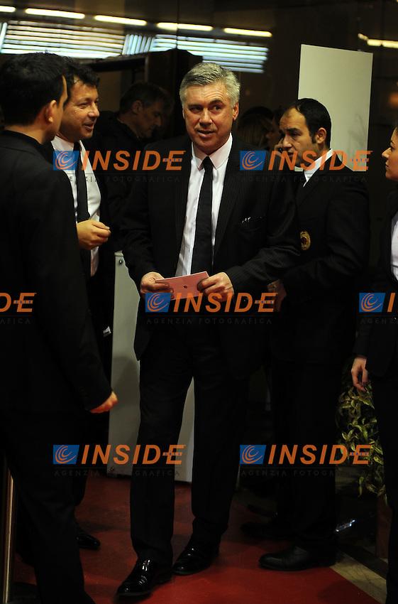 Carlo ANCELOTTI<br /> Milano, 13/03/2011 Teatro Manzoni<br /> 25&deg; anniversario di presidenza Berlusconi al Milan<br /> Campionato Italiano Serie A 2010/2011<br /> Foto Nicolo' Zangirolami Insidefoto