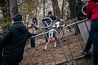 steep run-up for CX World Champion Sanne Cant (BEL)<br /> <br /> women's race<br /> CX World Cup Koksijde 2018