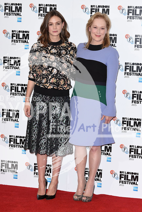 Carey Mulligan and Meryl Streep<br /> attends the &quot;Suffragette&quot; photocall at the Lanesborough Hotel, Knightsbridge, London<br /> <br /> &copy;Ash Knotek  D3021  07/10/2015