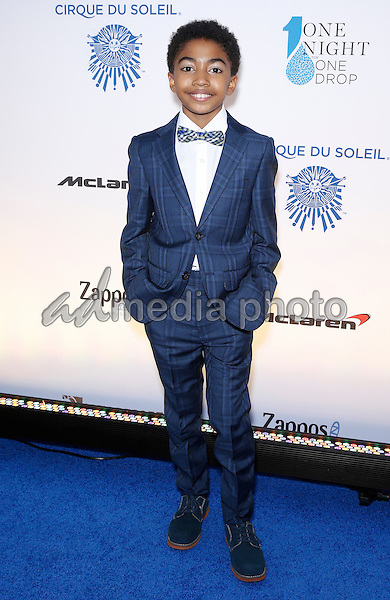 18 March 2016 - Las Vegas, Nevada - Miles Brown. Cirque Du Soleil presents star-studded blue carpet at Fourth Annual One Night for ONE DROP at the Cleveland Clinic Lou Ruvo Center for Brain Health. Photo Credit: MJT/AdMedia