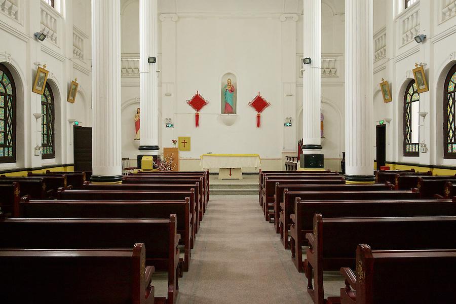 Church Interior, Renai French Catholic Church And Hospital Complex, Chongqing (Chungking).