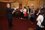 Stewart F. Lane with Central Academy of Drama: Professors tour The Palace Theatre on September 25, 2017 at the The Palace Theatre in New York City.