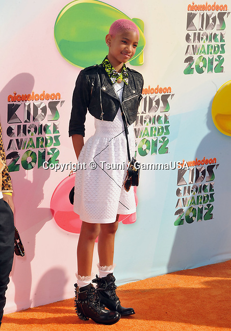 Willow Smith  at the 25th Ann.NickelOdeon Kid Choice's Awards - 2012 at The Galen Center In Los Angeles.